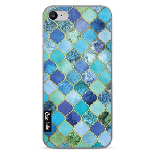 Casetastic Softcover Apple iPhone 7 / 8 / SE (2020) - Aqua Moroccan Tiles