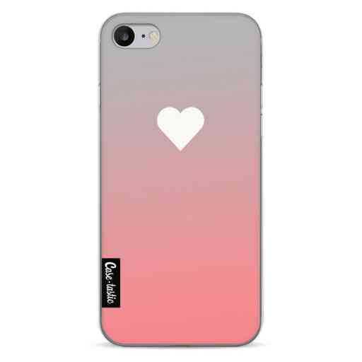 Casetastic Softcover Apple iPhone 7 / 8 - Peach Heart Fade