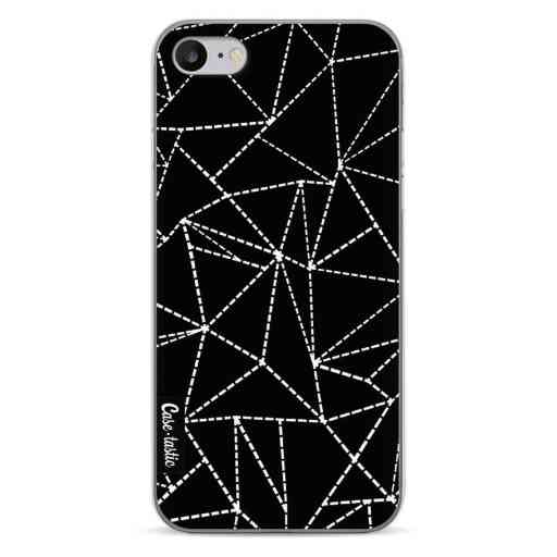 Casetastic Softcover Apple iPhone 7 / 8 - Abstract Dotted Lines Black
