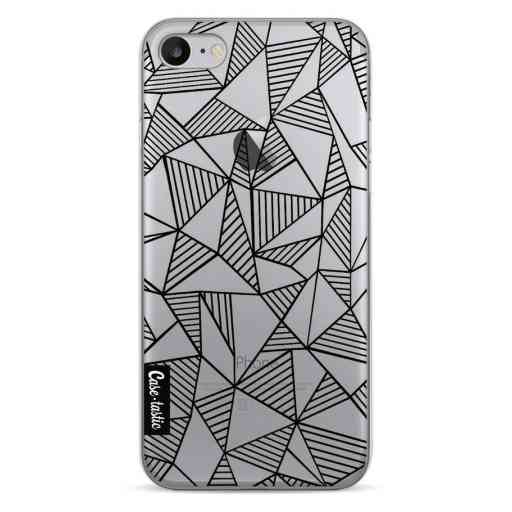 Casetastic Softcover Apple iPhone 7 / 8 / SE (2020) - Abstraction Lines Black Transparent