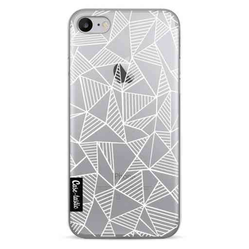 Casetastic Softcover Apple iPhone 7 / 8 - Abstraction Lines White Transparent