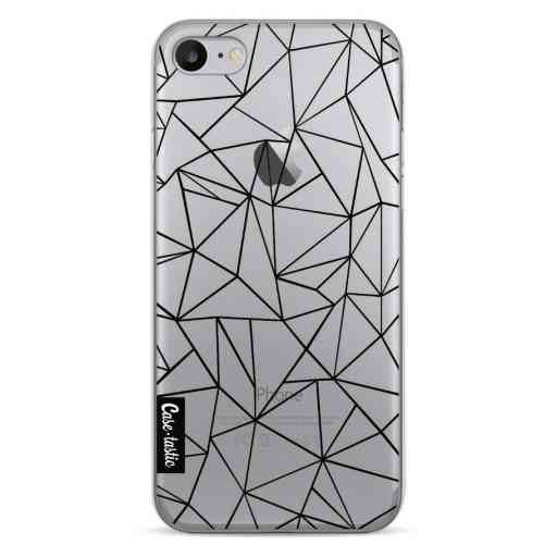 Casetastic Softcover Apple iPhone 7 / 8 / SE (2020) - Abstraction Outline Black Transparent