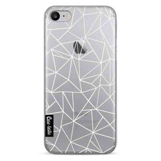 Casetastic Softcover Apple iPhone 7 / 8 / SE (2020) - Abstraction Outline White Transparent
