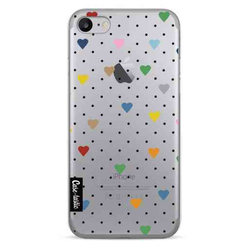 Casetastic Softcover Apple iPhone 7 / 8 / SE (2020) - Pin Point Hearts Transparent