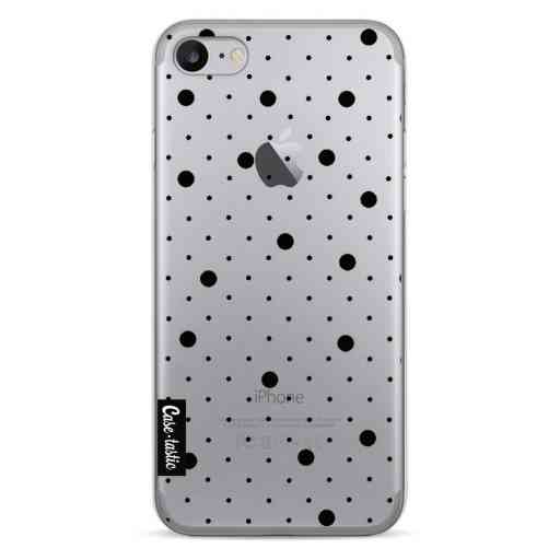 Casetastic Softcover Apple iPhone 7 / 8 / SE (2020) - Pin Points Polka Black Transparent