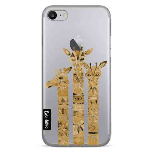Casetastic Softcover Apple iPhone 7 / 8 / SE (2020) - Sepia Giraffes