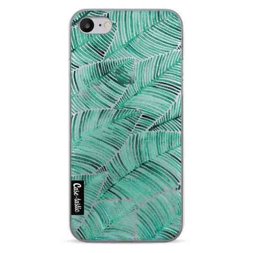 Casetastic Softcover Apple iPhone 7 / 8 / SE (2020) - Tropical Leaves Turquoise