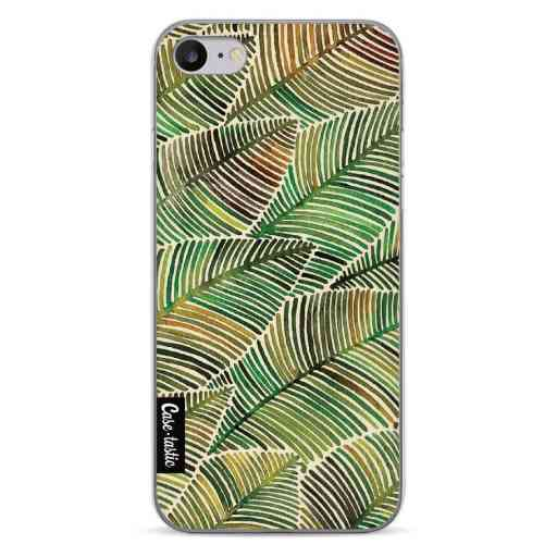 Casetastic Softcover Apple iPhone 7 / 8 / SE (2020) - Tropical Leaves Yellow