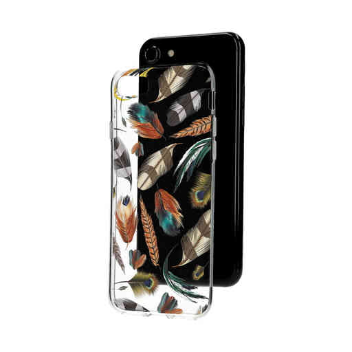 Casetastic Softcover Apple iPhone 7 / 8 / SE (2020) - Feathers Multi