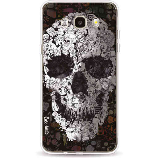 Casetastic Softcover Samsung Galaxy J5 (2016) - Doodle Skull BW