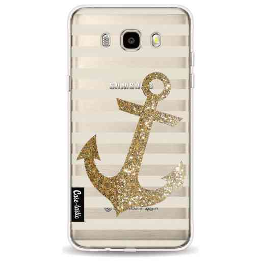 Casetastic Softcover Samsung Galaxy J5 (2016) - Glitter Anchor Gold