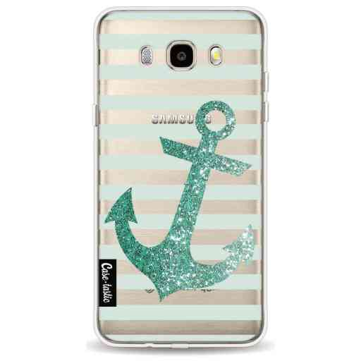 Casetastic Softcover Samsung Galaxy J5 (2016) - Glitter Anchor Mint