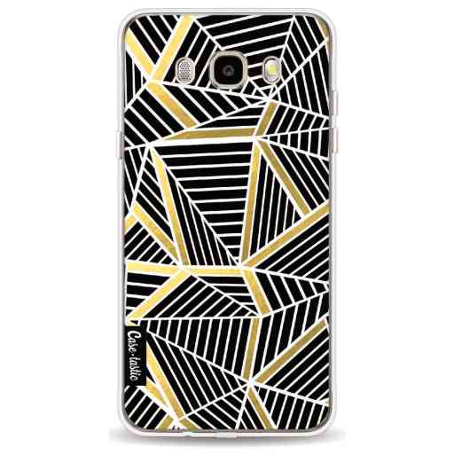 Casetastic Softcover Samsung Galaxy J5 (2016) - Abstraction Lines Black Gold