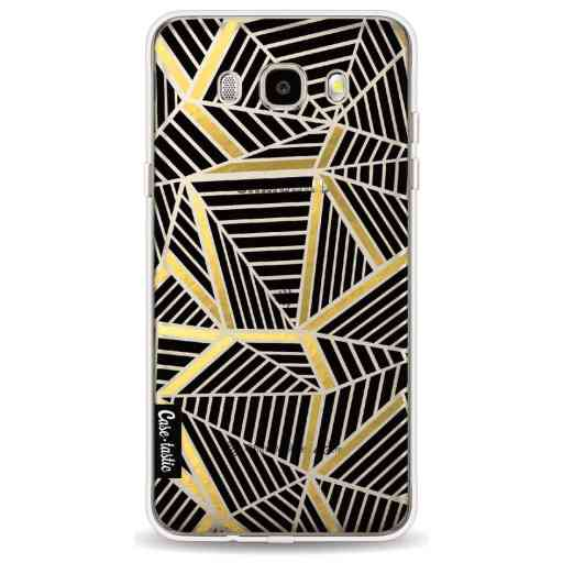 Casetastic Softcover Samsung Galaxy J5 (2016) - Abstraction Lines Black Gold Transparent