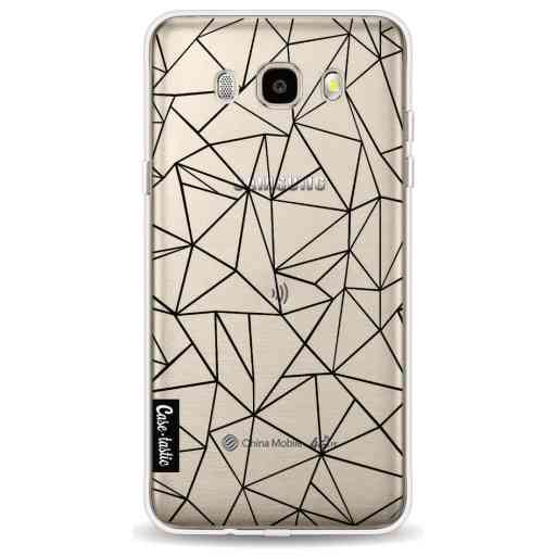 Casetastic Softcover Samsung Galaxy J5 (2016) - Abstraction Outline Black Transparent