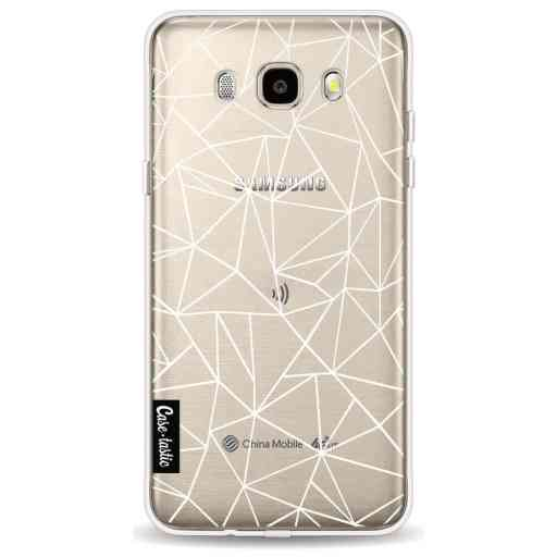 Casetastic Softcover Samsung Galaxy J5 (2016) - Abstraction Outline White Transparent