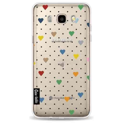 Casetastic Softcover Samsung Galaxy J5 (2016) - Pin Point Hearts Transparent