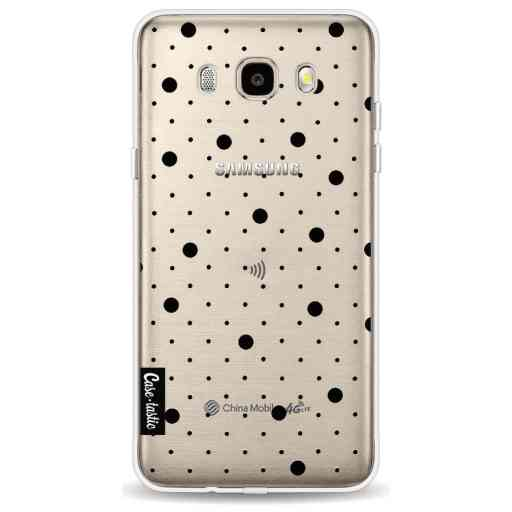Casetastic Softcover Samsung Galaxy J5 (2016) - Pin Points Polka Black Transparent