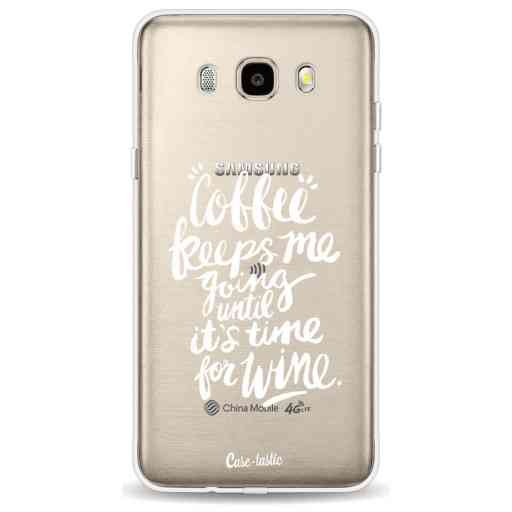 Casetastic Softcover Samsung Galaxy J5 (2016) - Coffee Wine White Transparent