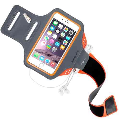 Casetastic Comfort Fit Sport Armband Apple iPhone 6/6S/7/8/SE (2020) Neon Orange
