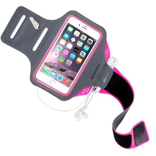 Casetastic Comfort Fit Sport Armband Apple iPhone 6/6S/7/8/SE (2020) Neon Pink