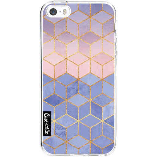 Casetastic Softcover Apple iPhone 5 / 5s / SE - Rose Quartz and Serenity Cubes
