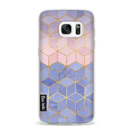 Casetastic Softcover Samsung Galaxy S7 - Rose Quartz and Serenity Cubes