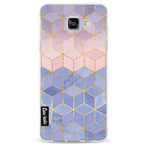 Casetastic Softcover Samsung Galaxy A5 (2016) - Rose Quartz and Serenity Cubes