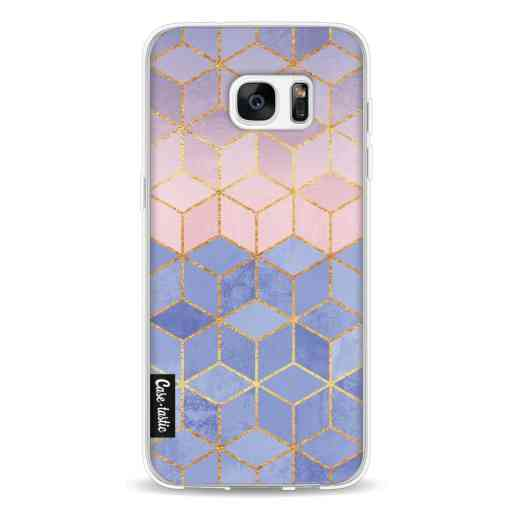 Casetastic Softcover Samsung Galaxy S7 Edge - Rose Quartz and Serenity Cubes