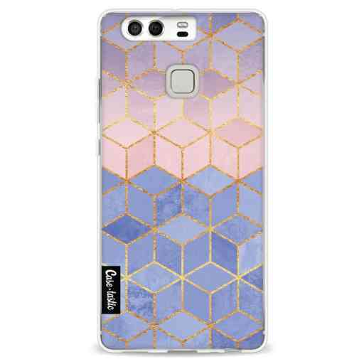 Casetastic Softcover Huawei P9  - Rose Quartz and Serenity Cubes