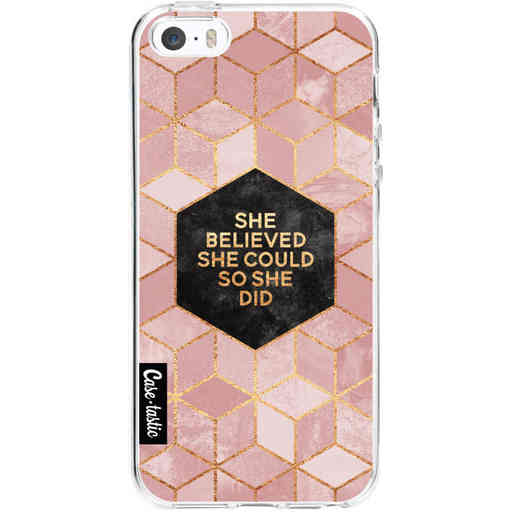Casetastic Softcover Apple iPhone 5 / 5s / SE - She Believed She Could So She Did