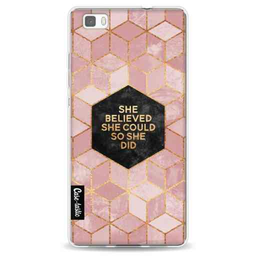 Casetastic Softcover Huawei P8 Lite (2015) - She Believed She Could So She Did