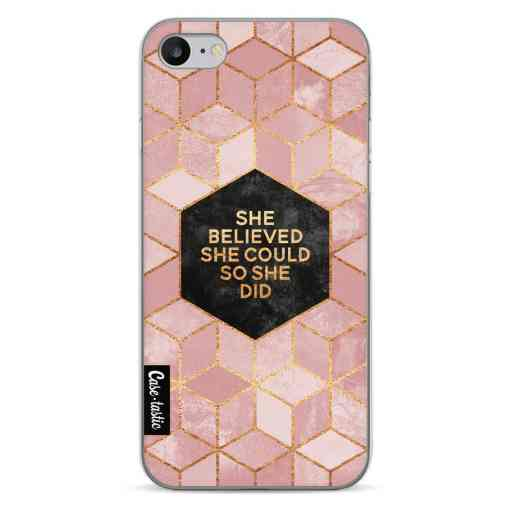 Casetastic Softcover Apple iPhone 7 / 8 / SE (2020) - She Believed She Could So She Did