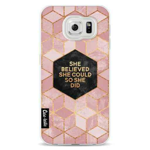 Casetastic Softcover Samsung Galaxy S6 - She Believed She Could So She Did