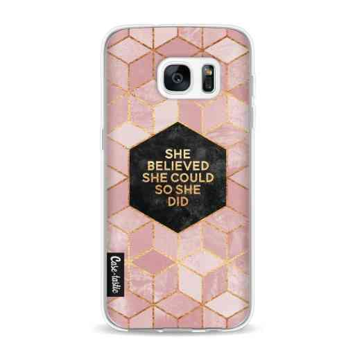 Casetastic Softcover Samsung Galaxy S7 - She Believed She Could So She Did