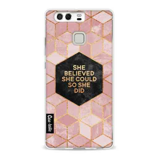 Casetastic Softcover Huawei P9  - She Believed She Could So She Did