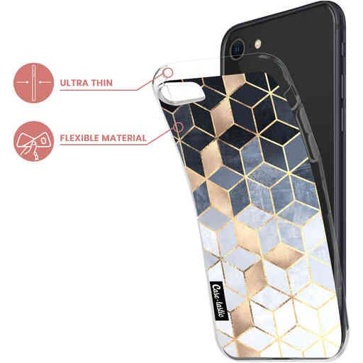 Casetastic Softcover Apple iPhone 7 / 8 / SE (2020) - Soft Blue Gradient Cubes