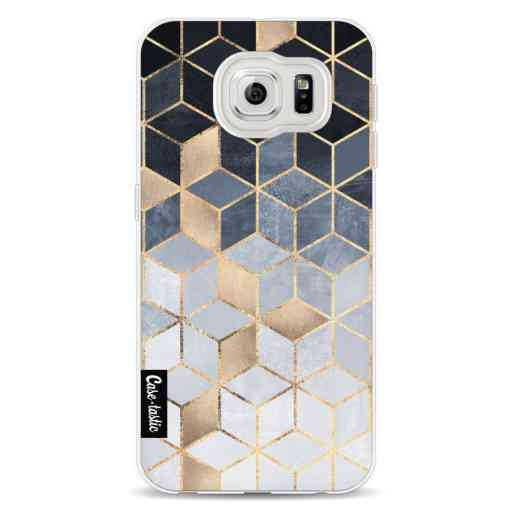 Casetastic Softcover Samsung Galaxy S6 - Soft Blue Gradient Cubes