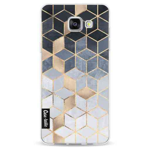 Casetastic Softcover Samsung Galaxy A5 (2016) - Soft Blue Gradient Cubes