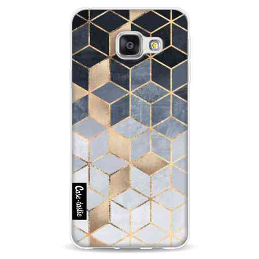 Casetastic Softcover Samsung Galaxy A3 (2016) - Soft Blue Gradient Cubes