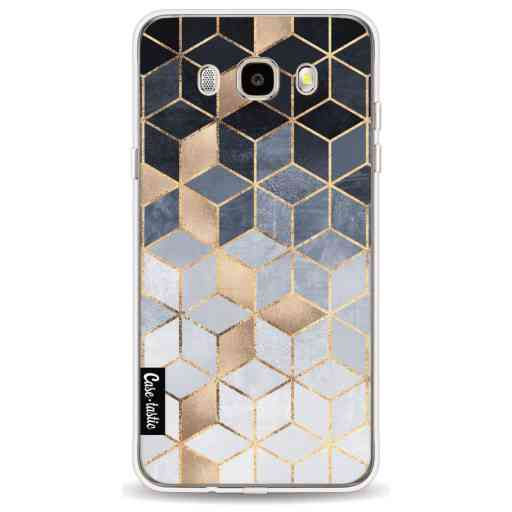 Casetastic Softcover Samsung Galaxy J5 (2016) - Soft Blue Gradient Cubes