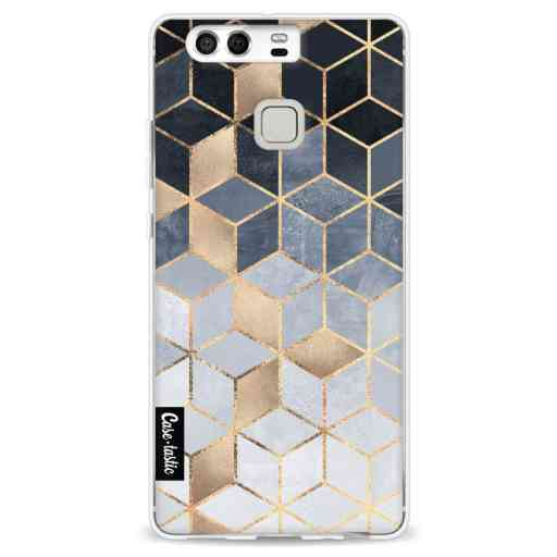 Casetastic Softcover Huawei P9  - Soft Blue Gradient Cubes
