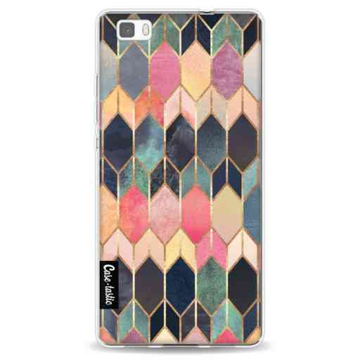 Casetastic Softcover Huawei P8 Lite - Stained Glass Multi