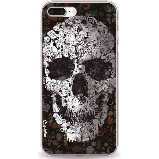 Casetastic Softcover Apple iPhone 7 Plus / 8 Plus - Doodle Skull BW