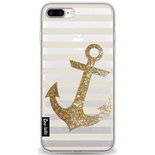 Casetastic Softcover Apple iPhone 7 Plus / 8 Plus - Glitter Anchor Gold