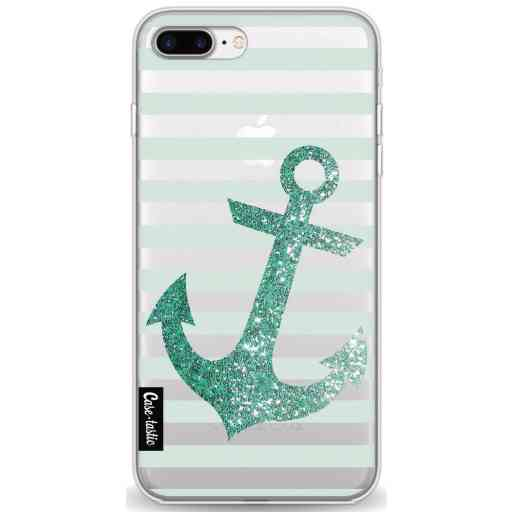 Casetastic Softcover Apple iPhone 7 Plus / 8 Plus - Glitter Anchor Mint