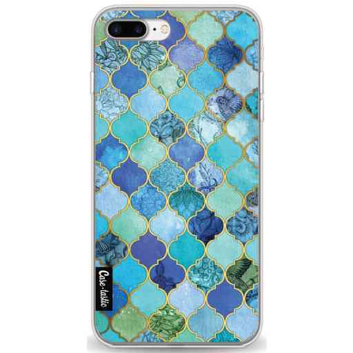 Casetastic Softcover Apple iPhone 7 Plus / 8 Plus - Aqua Moroccan Tiles