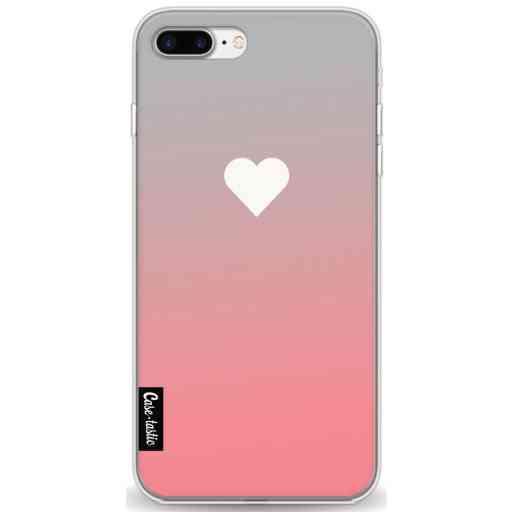 Casetastic Softcover Apple iPhone 7 Plus / 8 Plus - Peach Heart Fade
