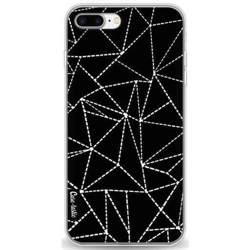 Casetastic Softcover Apple iPhone 7 Plus / 8 Plus - Abstract Dotted Lines Black