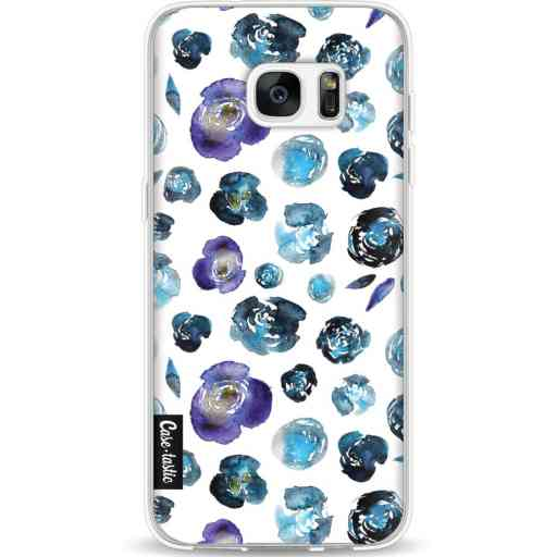 Casetastic Softcover Samsung Galaxy S7 Edge - Flowers Blue